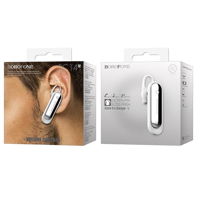 borofone bc14 eztalk business wireless earphone white box