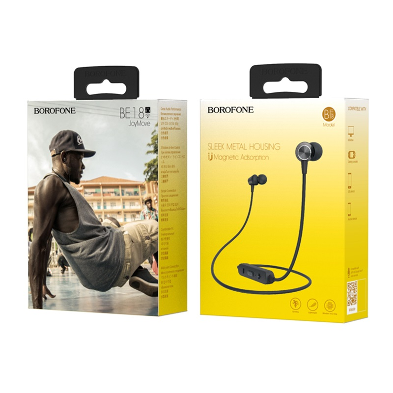 borofone be18 joymove sports wireless earphones black box