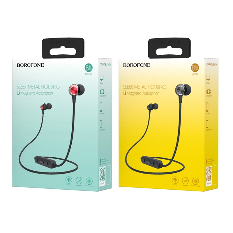 borofone be18 joymove sports wireless earphones package