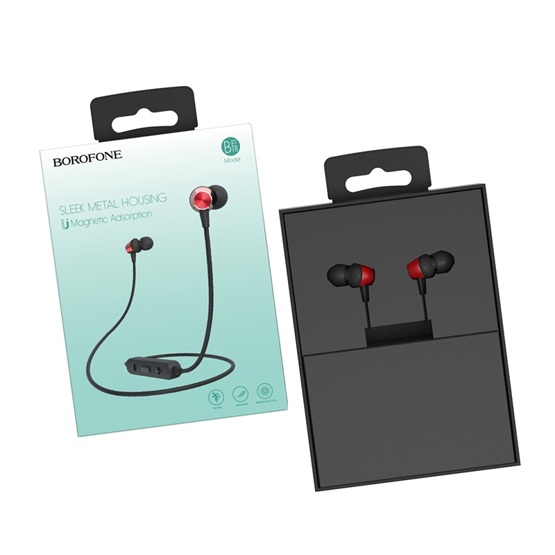 borofone be18 joymove sports wireless earphones red include