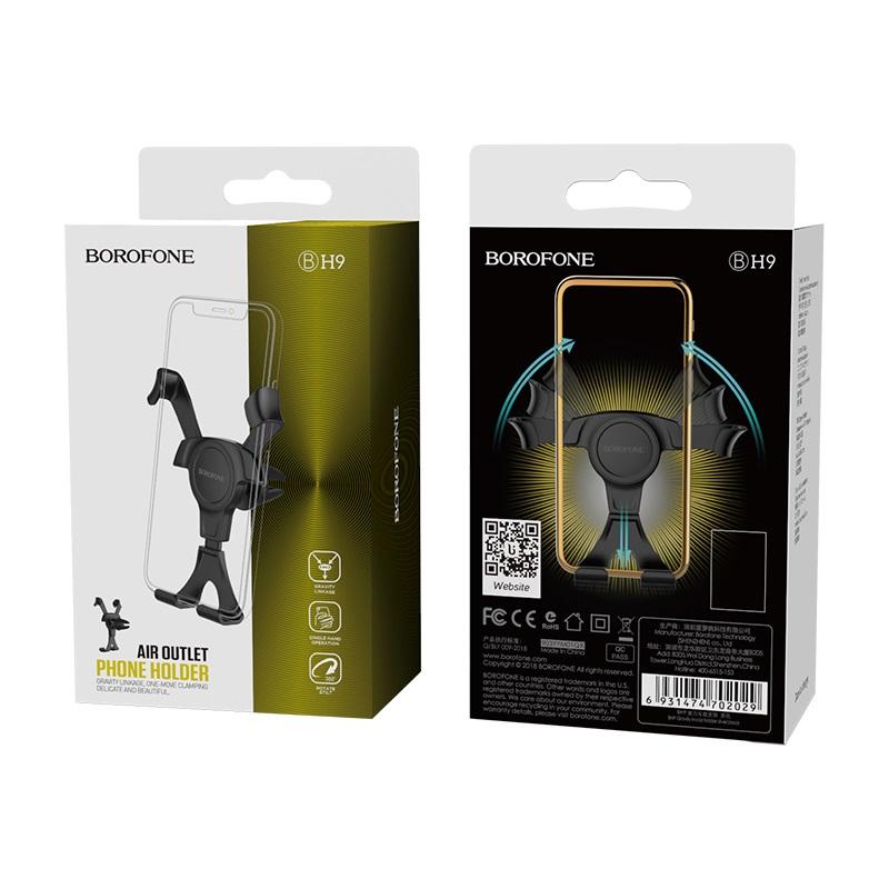 borofone bh9 gravity in car phone holder package