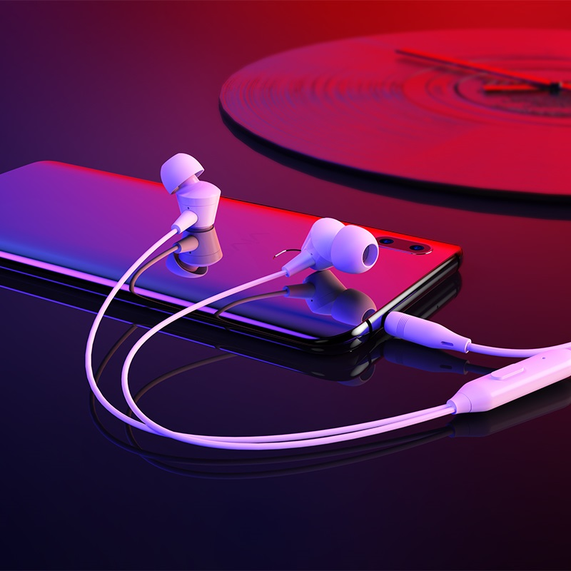 borofone bm20 dasmelody in line control wired earphones interior