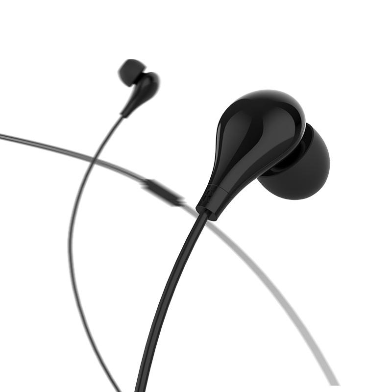 borofone bm24 milo универсальные наушники с микрофоном intro черный
