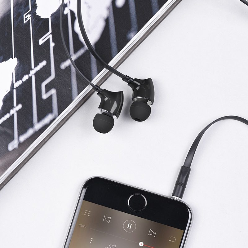 borofone bm26 rhythm universal earphones with mic interior