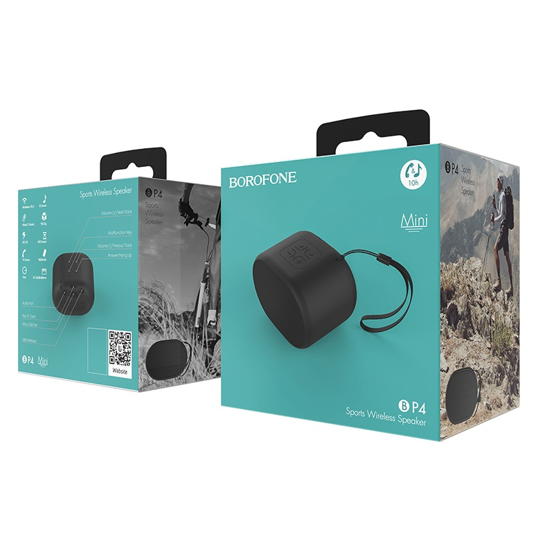 borofone bp4 enjoy sports wireless speaker package black
