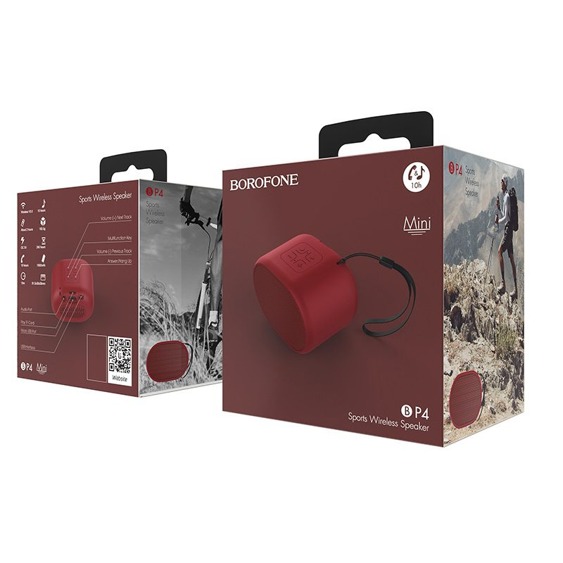 borofone bp4 enjoy sports wireless speaker package red