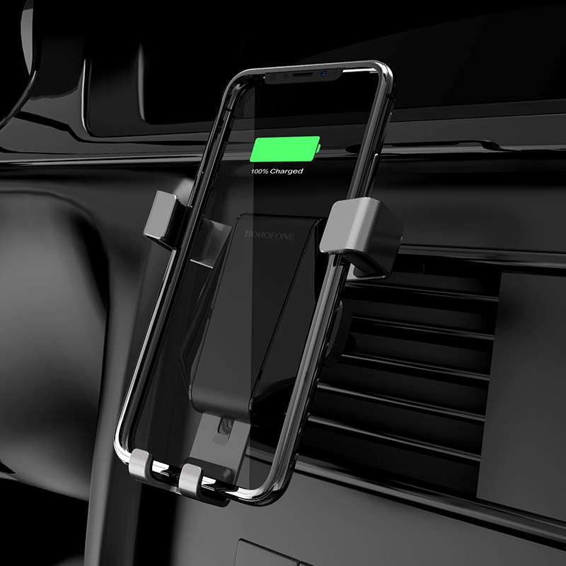 borofone bq4 airdock quick wireless charging car holder charging