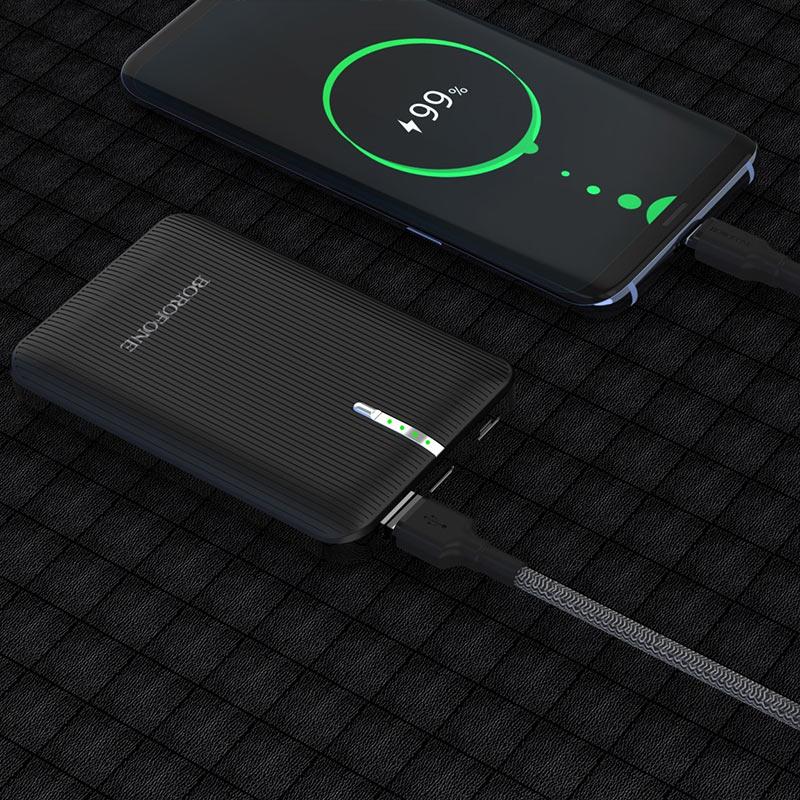 borofone bt18 prosperous mobile power bank 7000mah charging black
