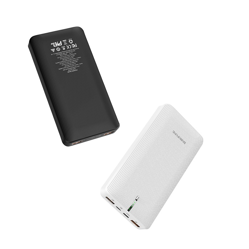 borofone bt18b prosperous mobile power bank 25000mah black white