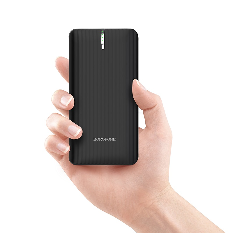 borofone bt18b prosperous mobile power bank 25000mah in hand