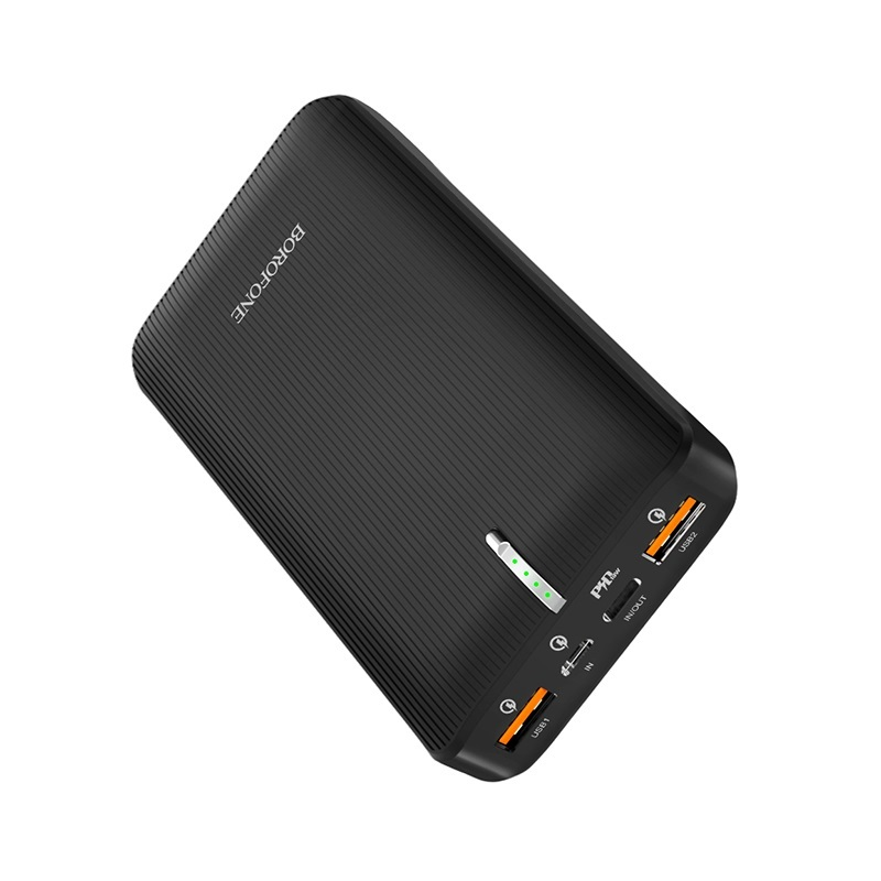 borofone bt18b prosperous mobile power bank 25000mah ports