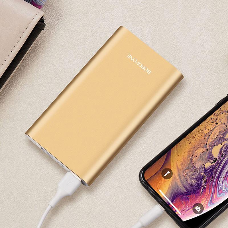 borofone bt19 universal mobile power bank 10000mah charging gold