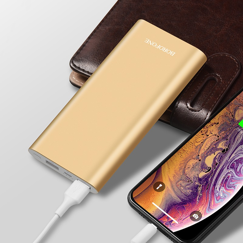 borofone bt19a universal mobile power bank 15000mah charging gold
