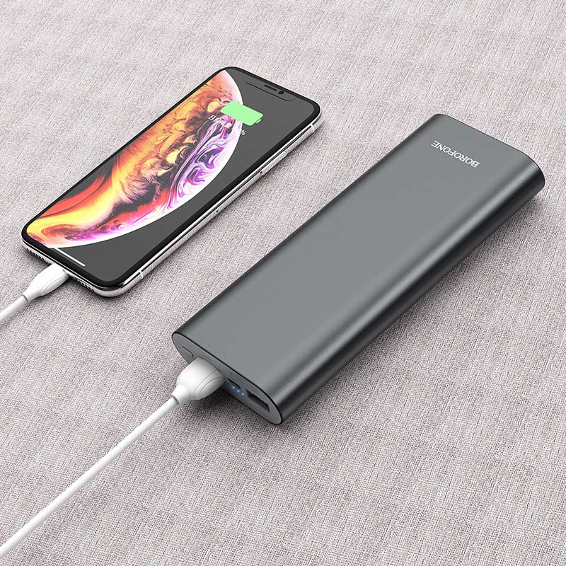 borofone bt19b universal mobile power 20000mah charging metal gray