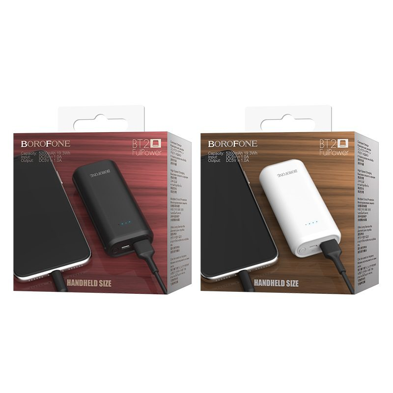 borofone bt2 fullpower power bank 5200mah packages
