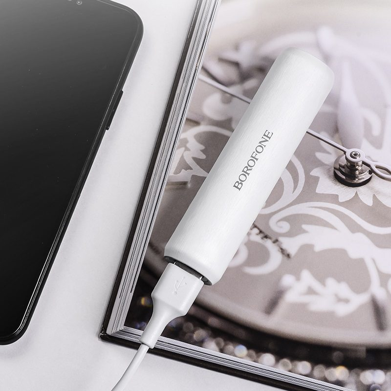 borofone bt2a fullpower mobile power bank 2600mah charging white