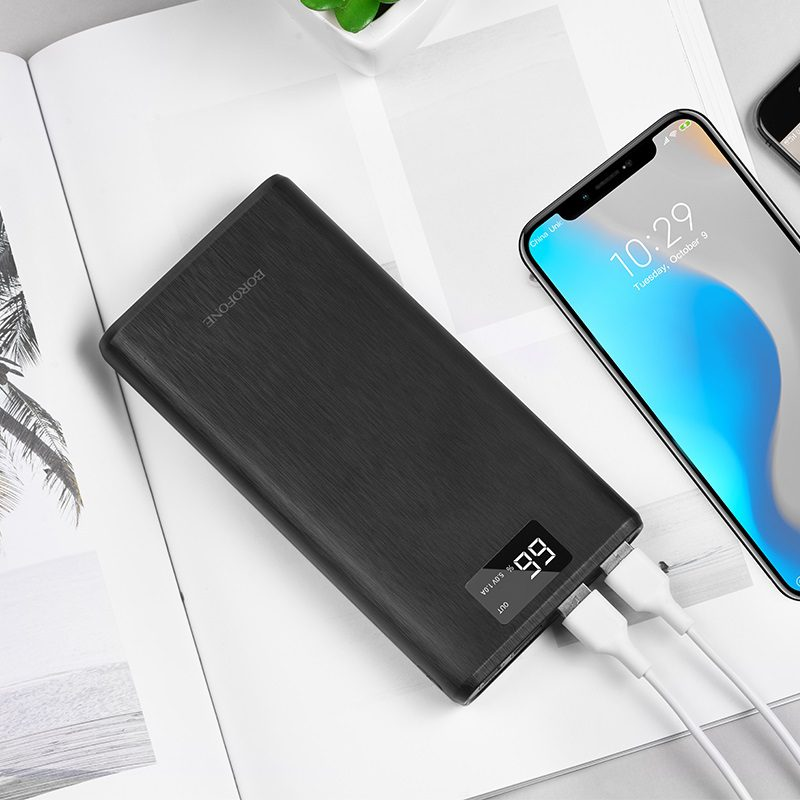 borofone bt2d fullpower power bank 30000mah charging