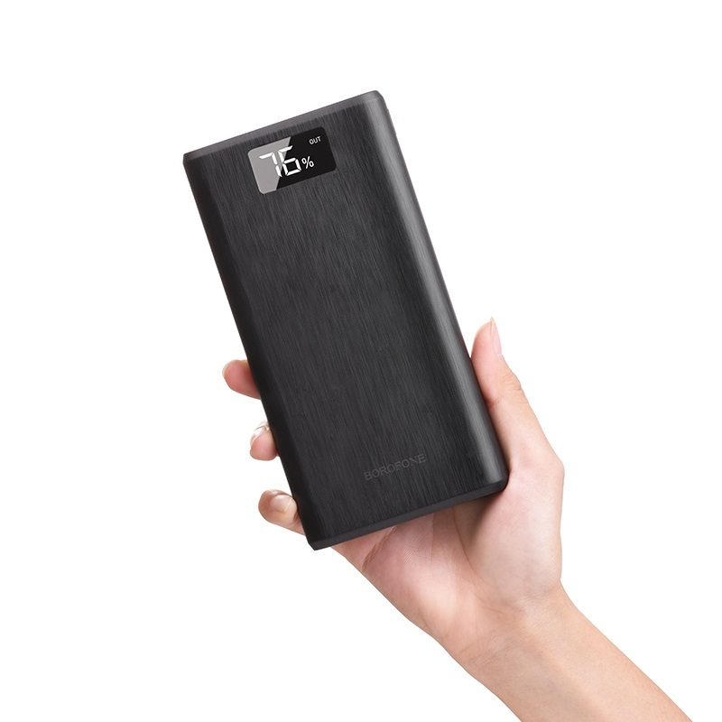 borofone bt2d fullpower power bank 30000mah in hand
