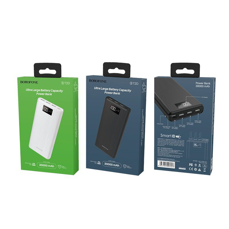 borofone bt2d fullpower power bank 30000mah packages