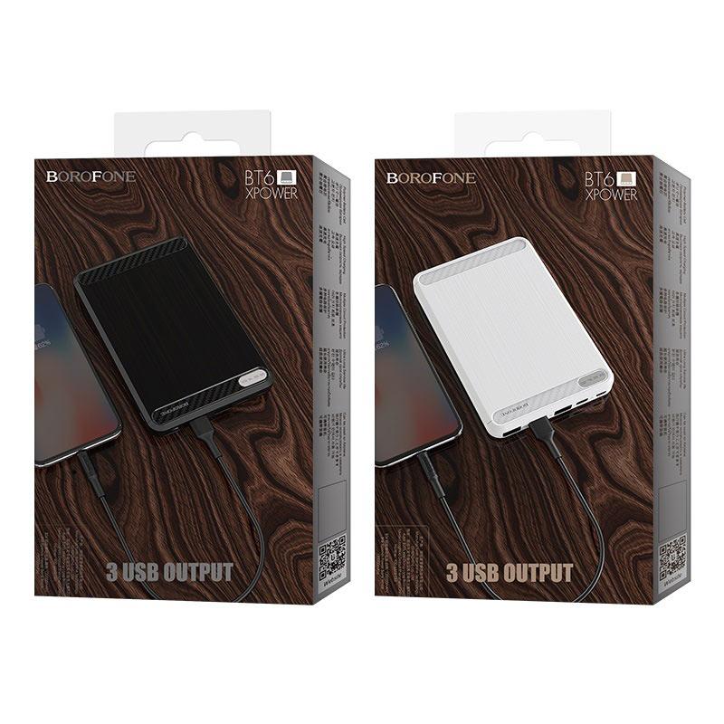 borofone bt6 xpower power bank 20000mah packages