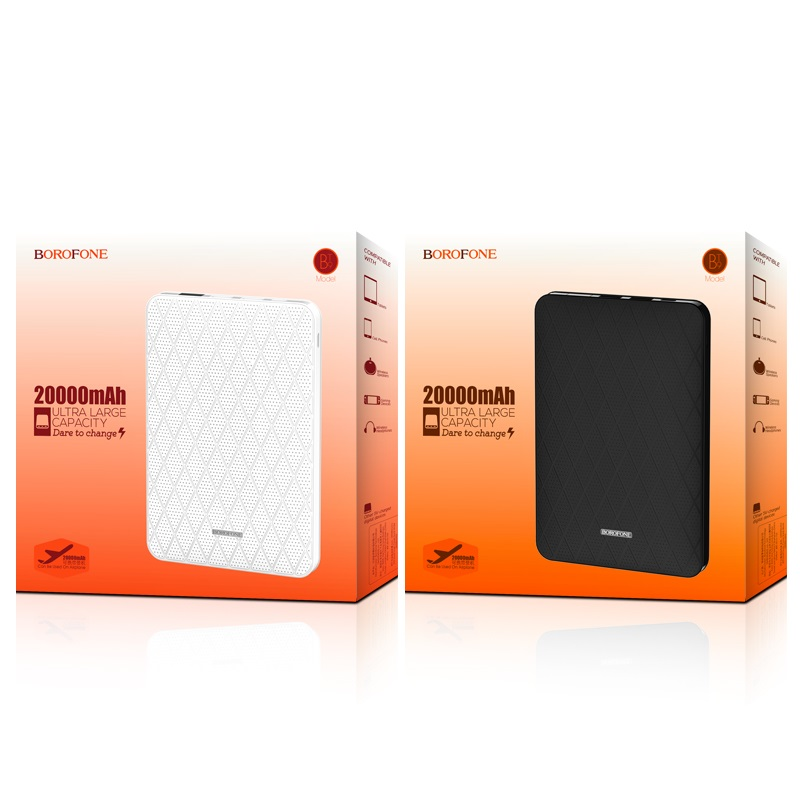 borofone bt9 maxpower power bank 20000mah packages