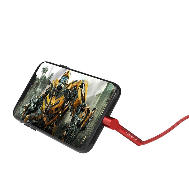 borofone bu6 bracket lightning charging data cable holder