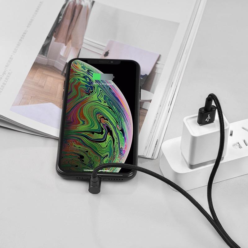 borofone bu6 bracket lightning charging data cable power