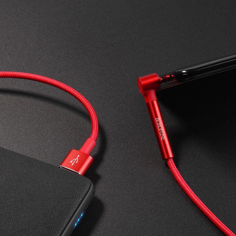 borofone bu6 bracket lightning charging data cable wire