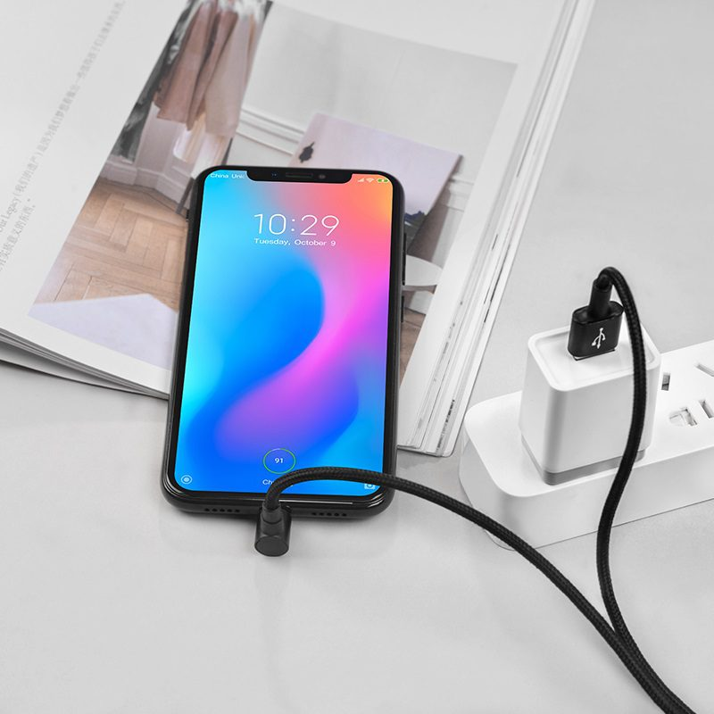 borofone bu6 bracket micro usb charging data cable power