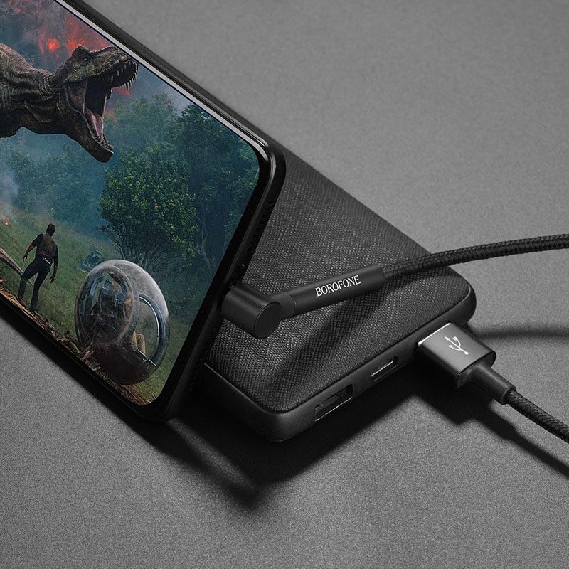 borofone bu6 bracket usb c charging data cable phone