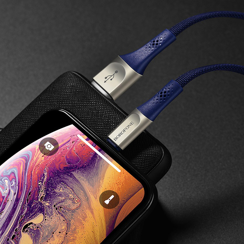 borofone bu7 superior lightning charging data cable charger