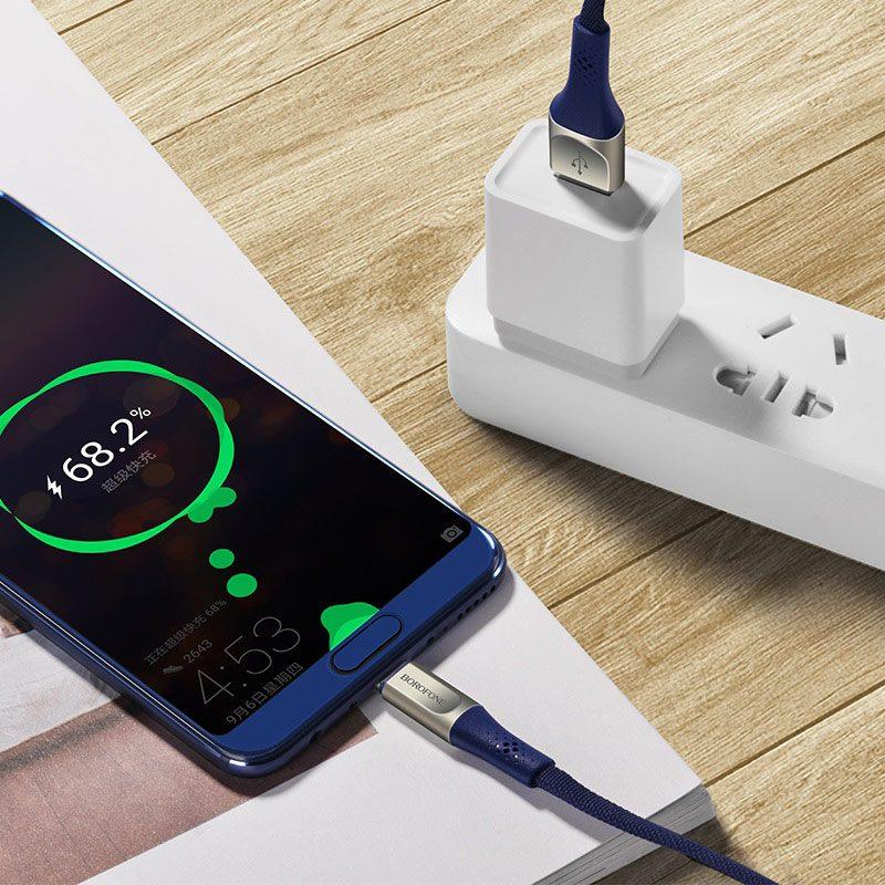 borofone bu7 superior usb c charging data cable wire
