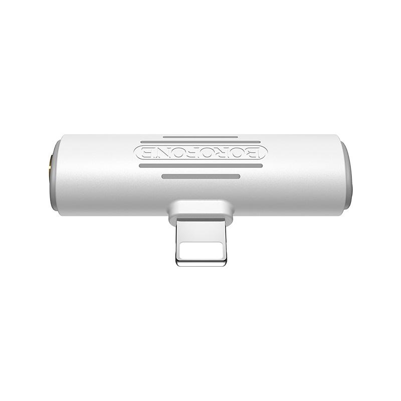 borofone bv7 light lightning digital 3 5mm audio converter front