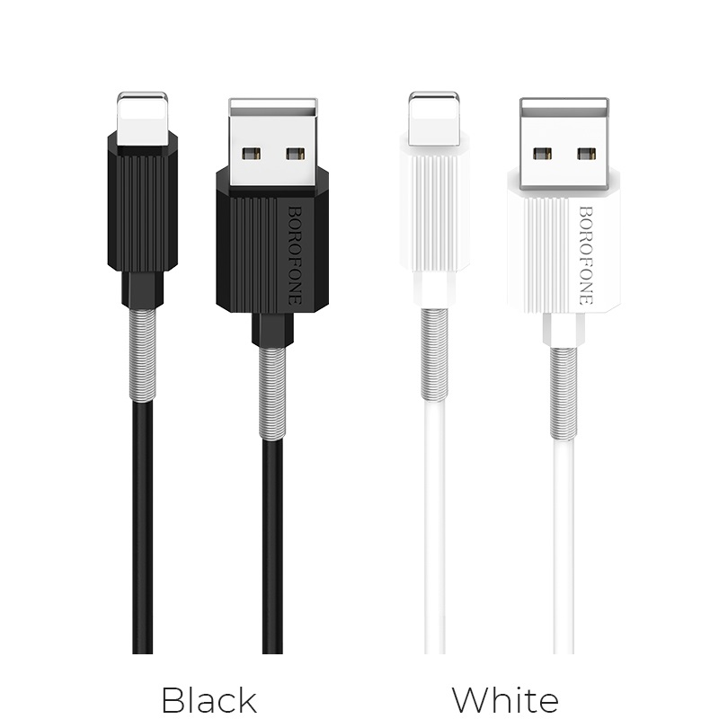 borofone bx11 ujet lightning usb charging data cable colors