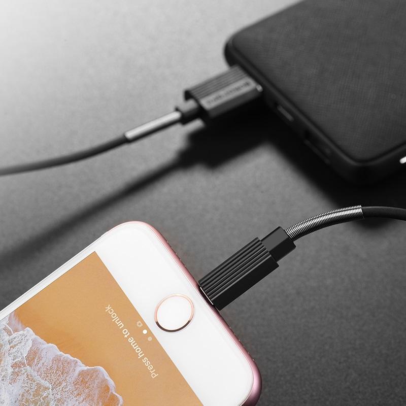borofone bx11 ujet lightning usb charging data cable phone