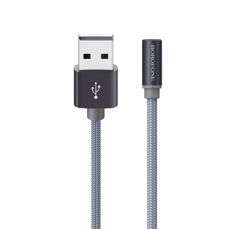 borofone bx12 freejet lightning usb charging data cable durable