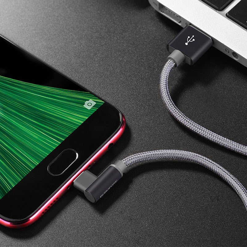 borofone bx12 freejet micro usb charging data cable charger