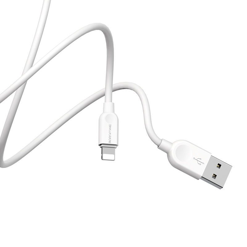 borofone bx14 linkjet lightning usb charging data cable wire