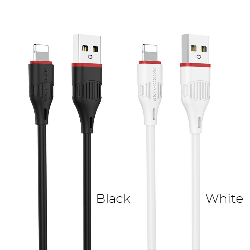 borofone bx17 enjoy lightning usb charging data cable colors