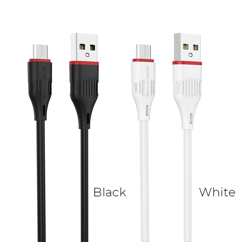 borofone bx17 enjoy micro usb charging data cable colors