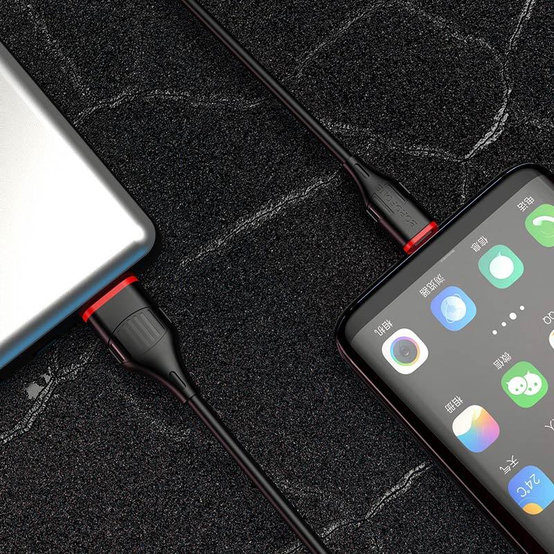 borofone bx17 enjoy type c usb charging data cable phone