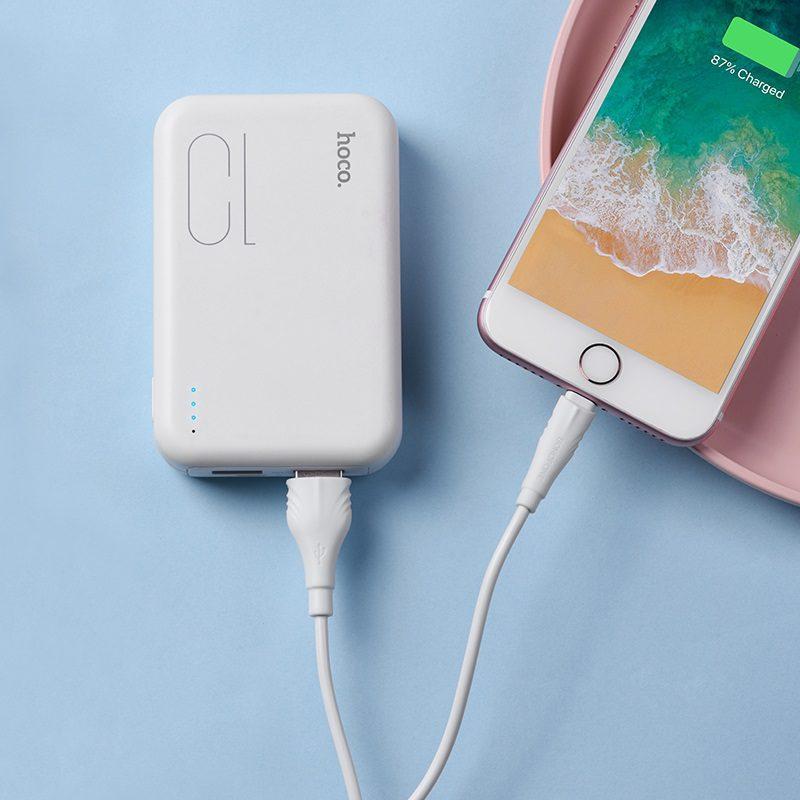 borofone bx18 optimal lightning usb charging data cable phone