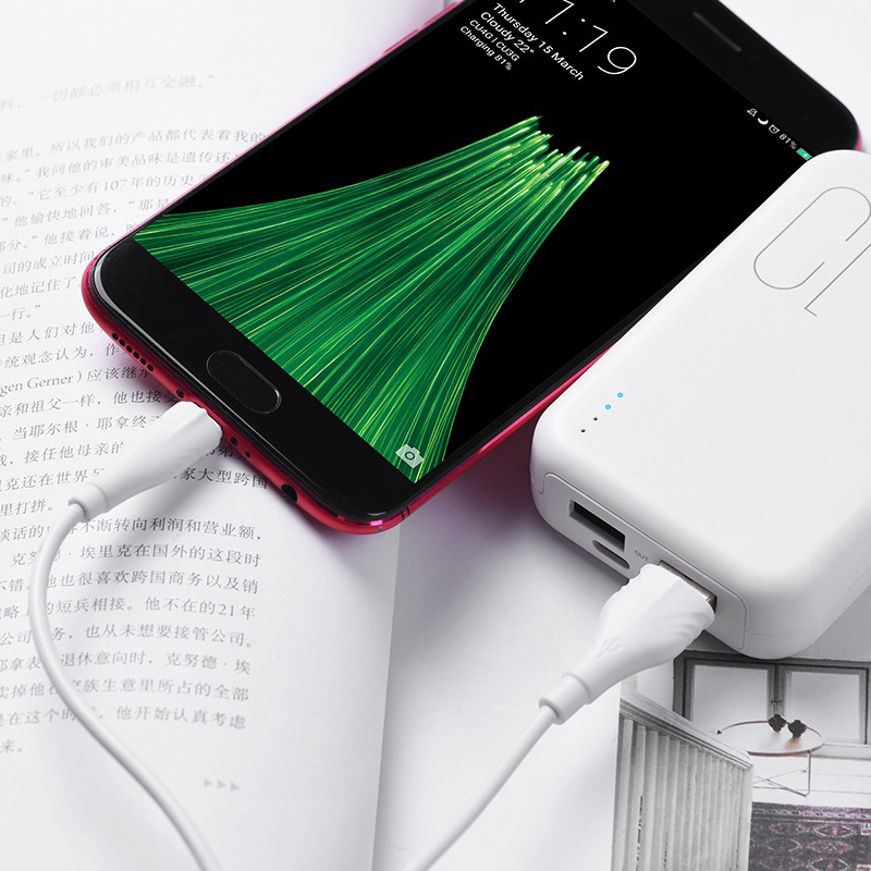 borofone bx18 optimal micro usb charging data cable charger
