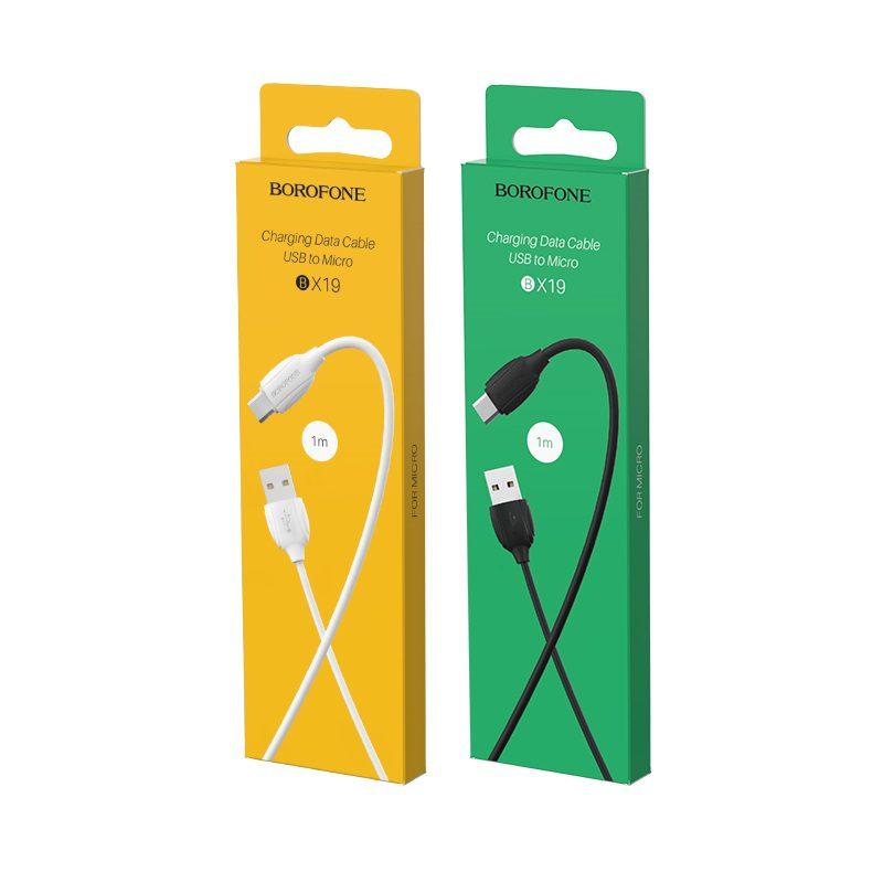 borofone bx19 benefit micro usb charging data cable box
