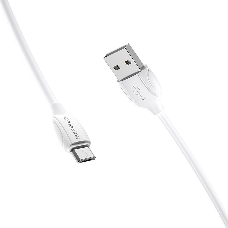borofone bx19 benefit micro usb charging data cable joints
