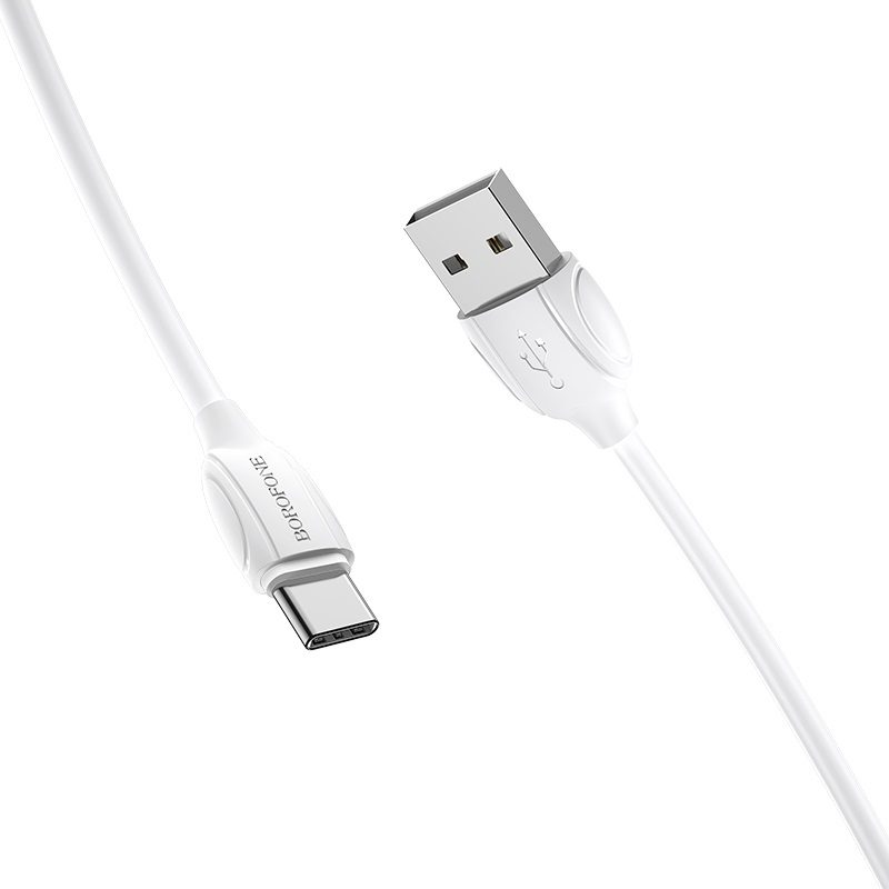 borofone bx19 benefit usb c charging data cable joints