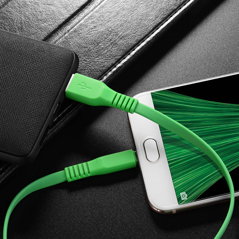 borofone bx5 flashsync micro usb charging data cable phone