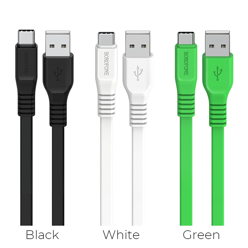 borofone bx5 flashsync type c usb charging data cable colors