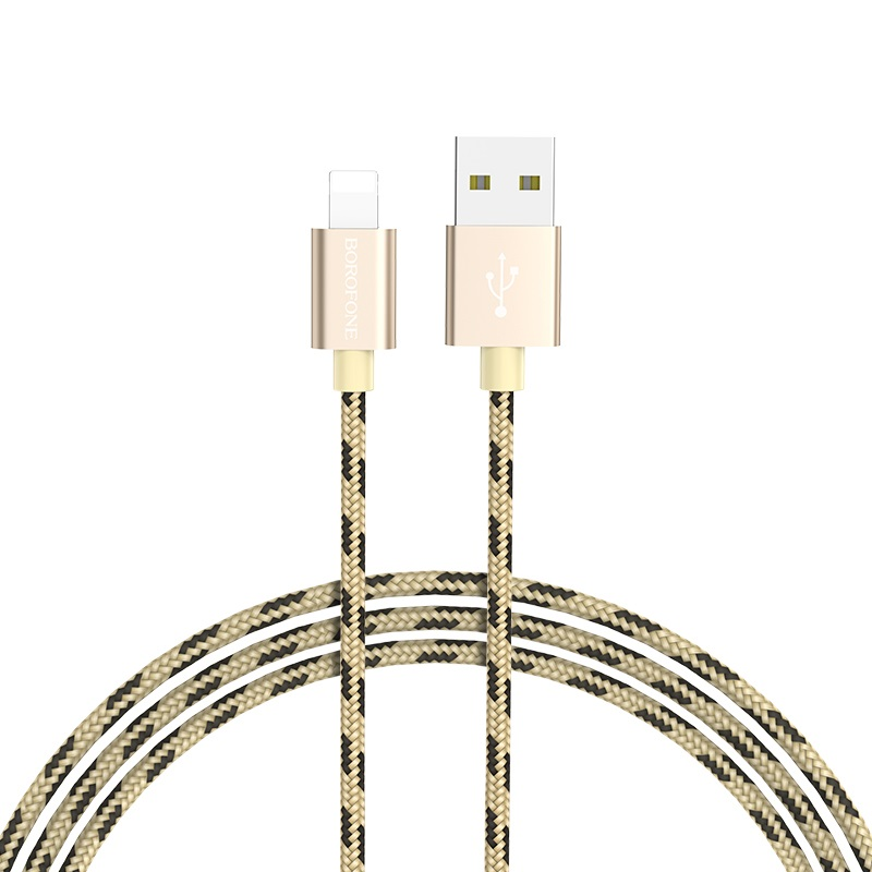 borofone bx9 magicsync lightning usb charging data cable flexible