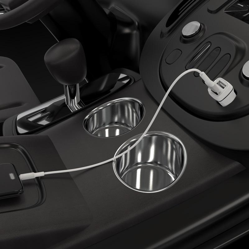 borofone bz2 joyroad автомобильное зарядное устройство с двумя портами набор с кабелем micro usb зарядка